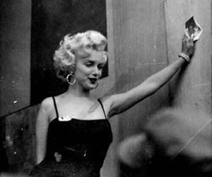 black and white, marilyn, and monroe image