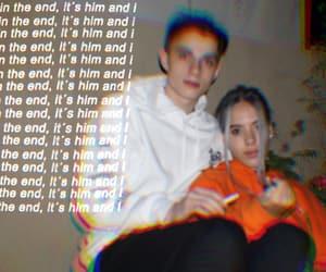 couple, Lyrics, and psychodelic image
