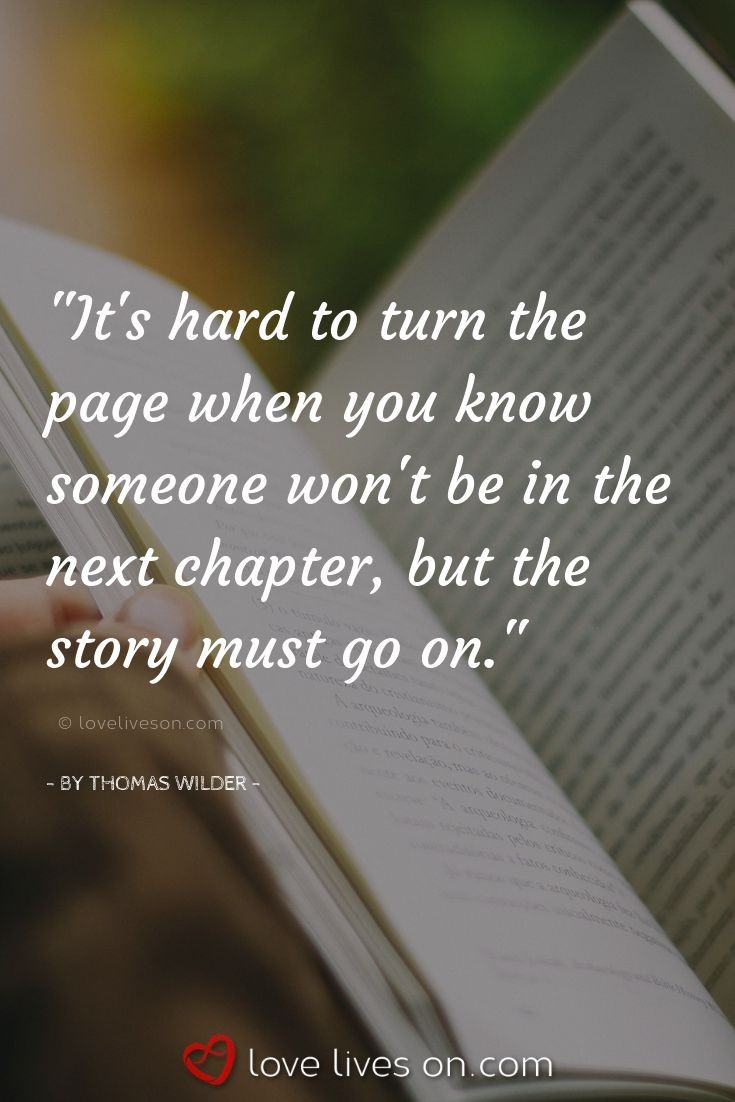 It\'s hard to turn the page when you know someone won\'t be in ...