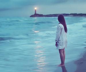 beautiful, girl, and sea image