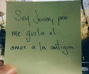 amor, frases, and joven image