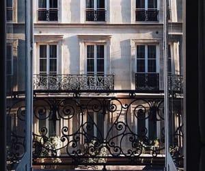 city, paris, and balcony image