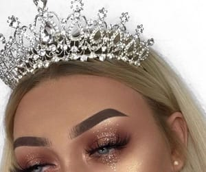 makeup, girl, and crown image