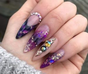 beautiful, diamond, and manicure image
