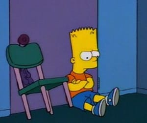 sad, the simpsons, and bart image