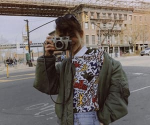 camera, city, and girl image