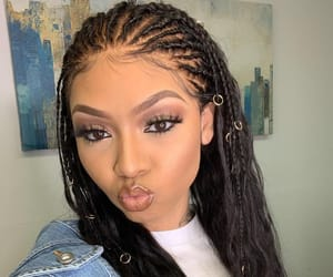 braids, fashion, and makeup image