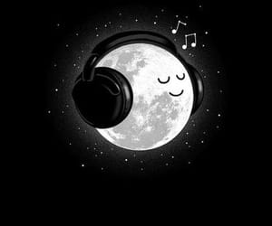 moon, music, and wallpaper image