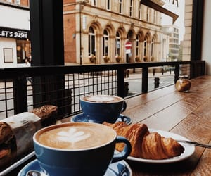 coffee, drink, and croissant image