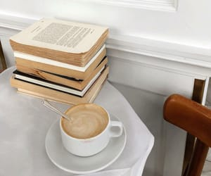 coffee, books, and white image