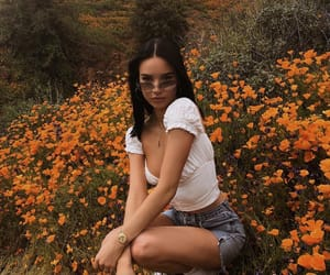 girl, clothes, and flowers image