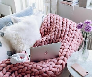 home, pink, and cozy image
