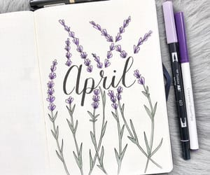 april, notes, and school image
