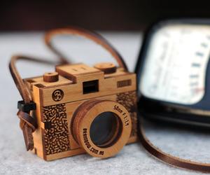 camera and wood image