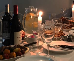 dinner and wine image