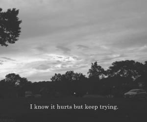 black and white, quotes, and hurt image