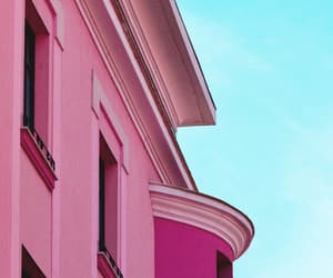 architecture, pink, and building image