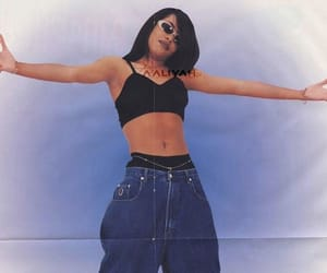 aaliyah, fashion, and model image