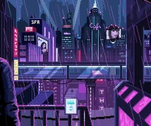 aesthetic, rain, and anime image