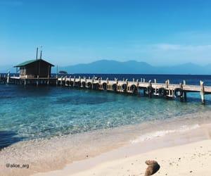 beach, honduras, and caribbean sea image
