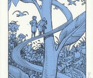 art, blue, and comic image