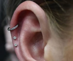 helix, T, and ear piercings image
