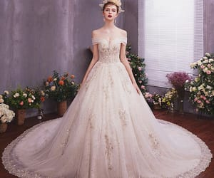 bridal, lace, and bridal gown image