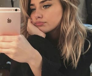blonde, iphone, and beauty image