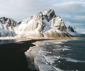nature, mountains, and ocean image