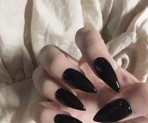 black, nails, and aesthetic image