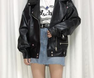 aesthetic, grunge, and leather jacket image