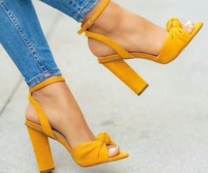 fashion, heels, and yellow image