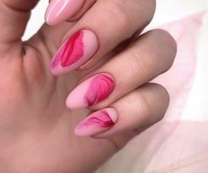 nail art, spring nails, and almond matte nails image