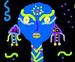 alien, blue, and boho image