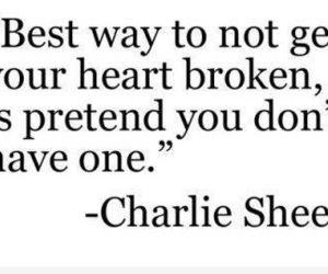 quote, charlie sheen, and heart image