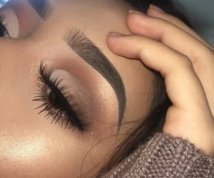 beauty, glamour, and eyebrows image