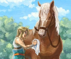 link, epona, and twilight princess image