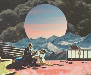 70s, moon, and surrealism image