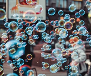 bubbles and photo image
