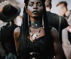 witch, black, and dark image