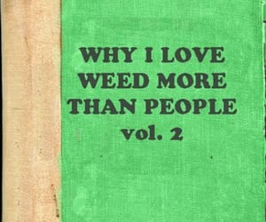 weed, book, and cannabis image