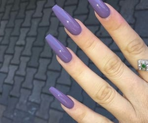 nails, violet, and fashion image