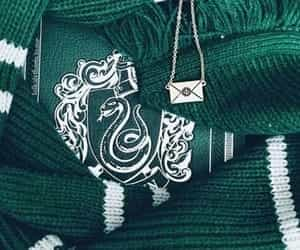 slytherin, green, and harry potter image