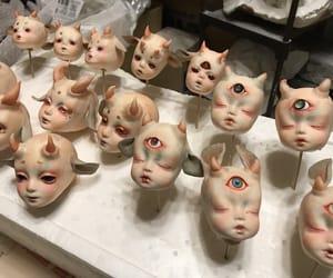 creepy, dolls, and eyes image