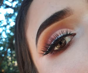 amateur, brown eyes, and glitter image