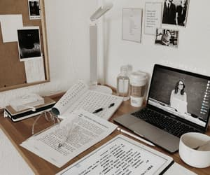 book, desk, and study image