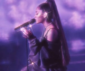ariana grande, ariana, and purple image