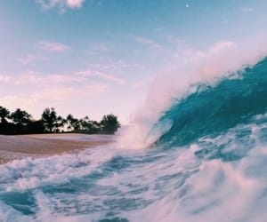 beach, waves, and summer image