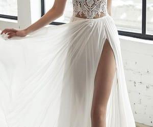 dress, bridal, and hair image
