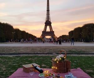 paris, picnic, and eiffel tower image